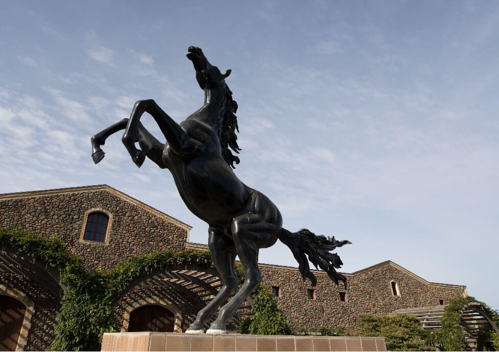 Black Stalion horse statue
