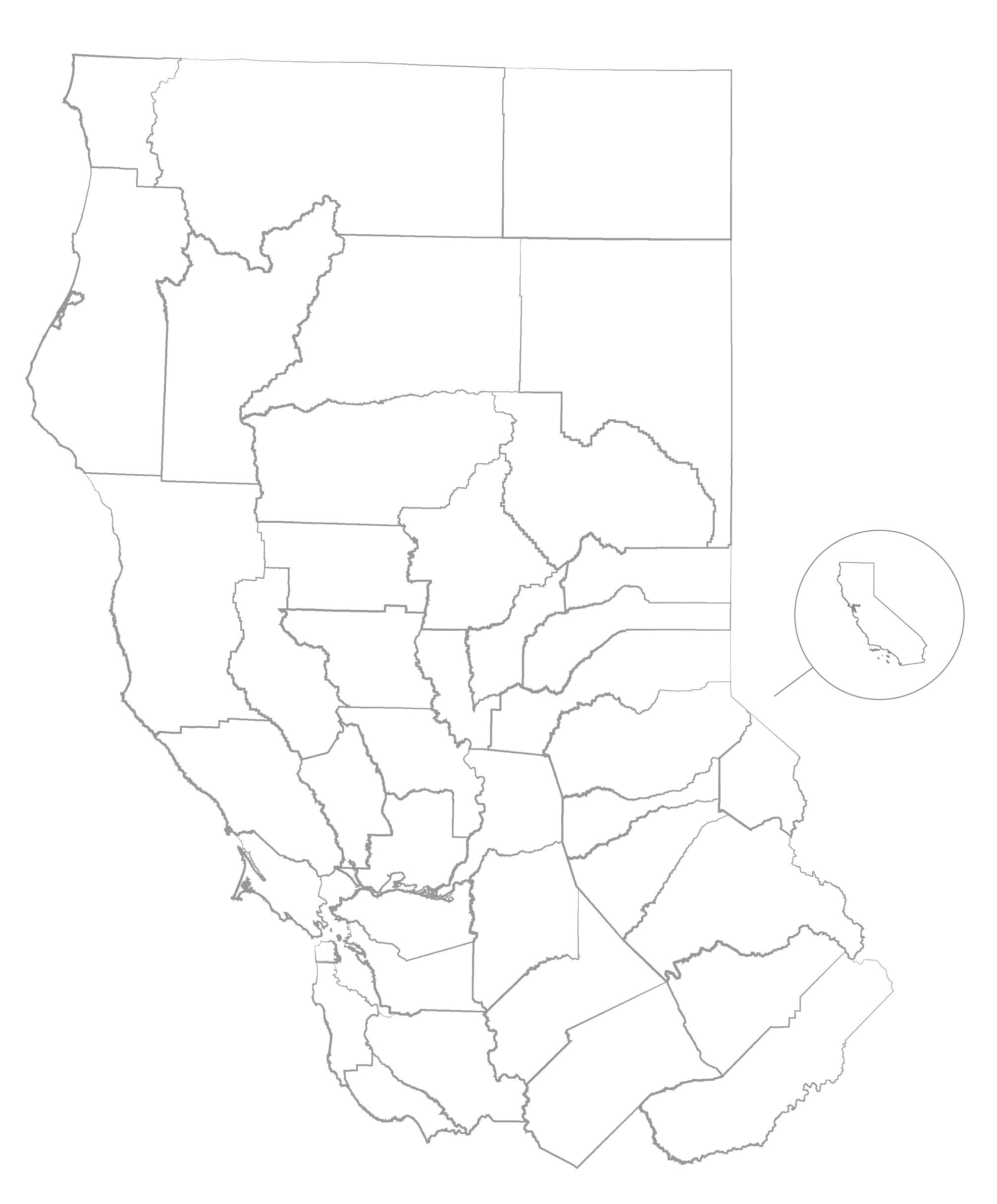 california map outline